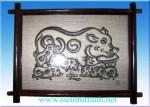 Tranh Đông Hồ – Đàn lợn – TDH04