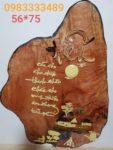 Tranh ghép gỗ ,chữ Hiếu -TG039
