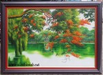 Tranh sơn dầu ,Hồ gươm -s207