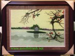 Tranh thêu tay-Hồ Gươm – t286