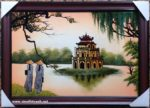 Hồ Gươm thơ mộng,sơn mài -SM265