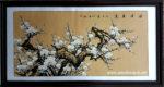 Tranh thủy mặc, mộc long đào hoa -TM67