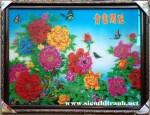 Tranh 3D01- Hoa khai phú quý