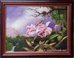 Tranh sơn dầu ,hoa lan -S031