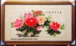 Tranh vẽ giấy dó hoa mẫu đơn-md03