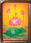 Tranh sơn dầu-hoa sen-s139