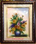 Tranh hoa xếp tĩnh vật đá quý -TD142
