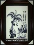 Tranh thêu tay-Hứng dừa-t191