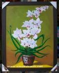 Tranh sơn dầu-chậu lan-s179