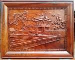 Tranh gỗ hương đỏ ,khuê văn các – TG112
