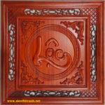 Chữ Lộc, Tranh chạm đục gỗ hương đỏ TG189