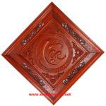 Chữ Lộc,Tranh gỗ hương đỏ- TG185