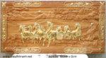 Tranh gỗ gõ đỏ dát vàng- bát mã toàn đồ -TG055