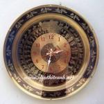 Tranh đồng-đồng hồ tròn-a152