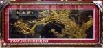 Tranh nhung đồng-Mộc long đào hoa- K019