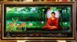 Tranh lịch vạn niên, Đức Phật ngồi thiền- MS647