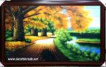 Tranh sơn dầu , mùa thu vàng -S222