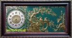 Tranh đồng -đồng hồ Nhị điểu ái đào-a135