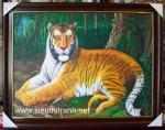 Oai trấn sơn hà-tranh sơn dầu-s159
