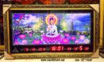 Tranh điêu khắc lịch vạn niên ,Phật Quan Âm- K642