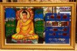 Tranh đồng hồ vạn niên, Phật thích ca ( hào quang PT001)