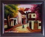 Tranh sơn mài-phố-sm167