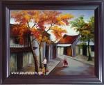 Tranh sơn mài-phố-sm169