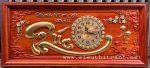 Tranh đồng hồ gỗ hương đục nổi thư pháp chữ Phúc-Tg266