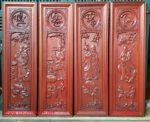 Tranh bộ gỗ hương ,phúc-lộc-thọ-tài -TG123