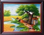 Tranh sơn dầu ,đồng quê -S070