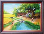 Tranh sơn dầu ,thôn quê -S209