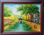 Tranh sơn dầu ,làng quê việt nam- S086