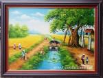 Tranh sơn dầu, Cây đa đầu làng-S066