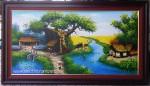 Tranh sơn dầu,Đồng quê – S142