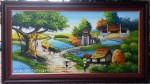 Tranh sơn dầu-đồng quê con trâu-S174