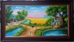 Tranh sơn dầu đồng quê -S185