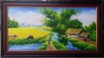 Tranh sơn dầu làng quê việt -S194