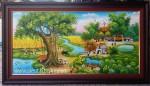 Tranh sơn dầu đồng quê Việt Nam-S200