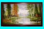 Tranh sơn dầu-Rừng bạch dương-s12