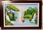 Thuận buồm xuôi gió-tranh sơn dầu-s154