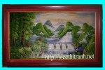 Tranh sơn dầu-sơn thủy hữu tình-s17