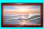 Tranh sơn dầu-chiều hoàng hôn -s19