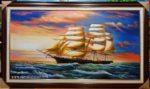 Tranh sơn dầu, Thuận Buồm Xuôi Gió -S254