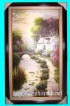 Tranh sơn dầu-phong cảnh đường xưa-s26