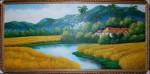 Tranh sơn dầu-đồng lúa vàng-s07