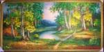 Tranh rừng thu vàng (tranh sơn dầu) s08