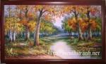 Tranh rừng thu vàng-tranh sơn dầu-s09