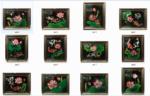 12 tranh sơn mài , Hoa Sen Cá Chép -SM253