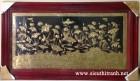 Tranh đồng, đàn hạc dưới đầm sen – A123
