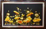 Tranh thêu sen vàng – F104